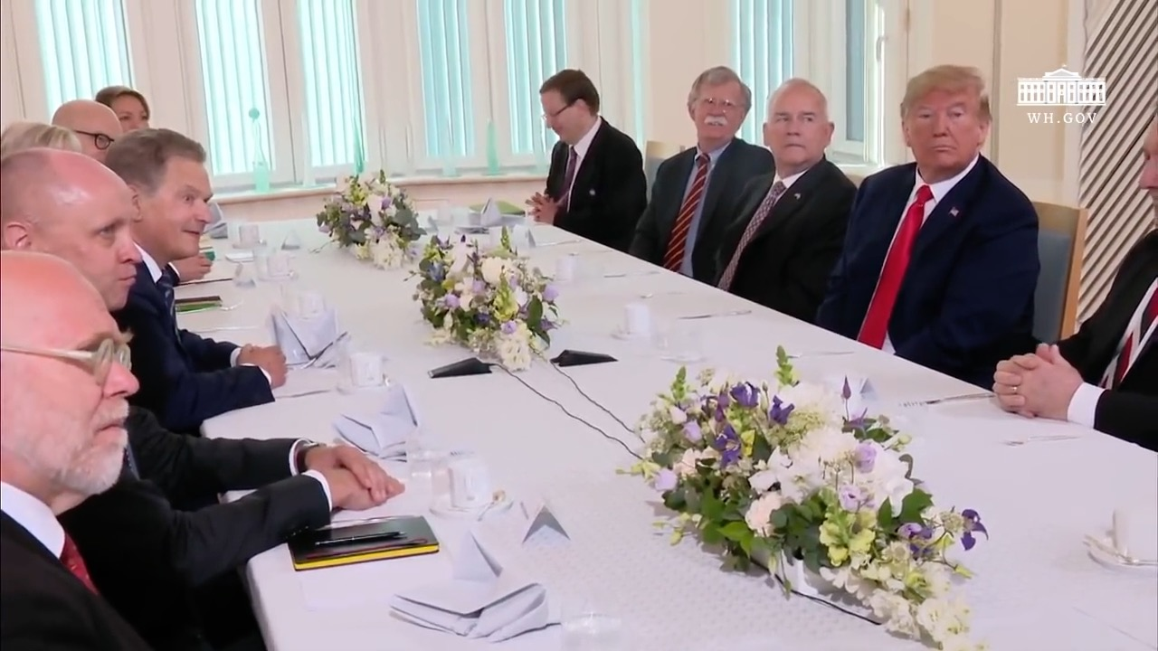 President Trump Has A Breakfast With The President Of Finland