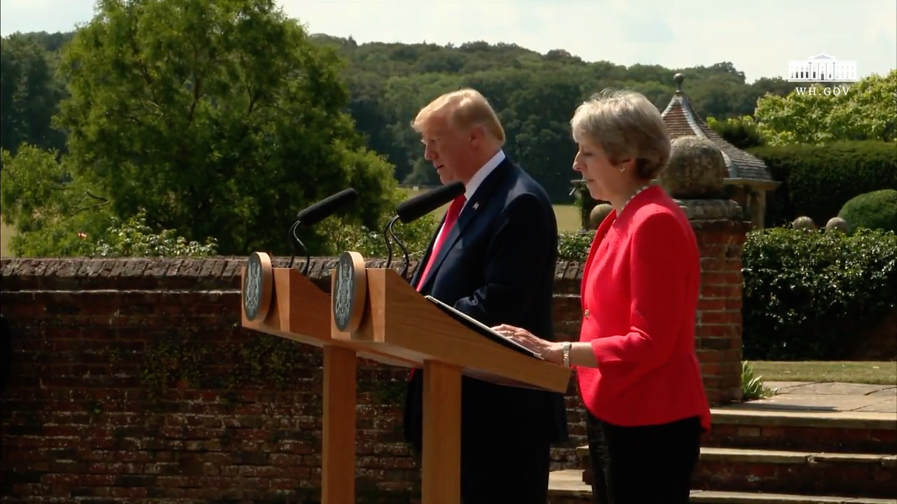 President Trump Strikes A Conciliatory Tone With British Prime Minister May