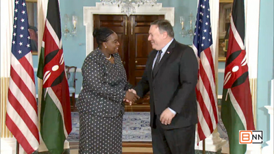 Pompeo Meets With Kenya Secretary for Foreign Affairs Secretary Monica Juma