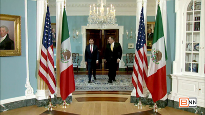 Secretary of State Pompeo Greets Mexican Foreign Minister Videgaray Caso