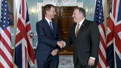 UK Secretary of State For Foreign And Commonwealth Affairs Jeremy Hunt