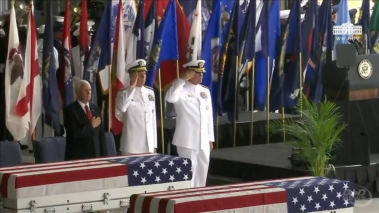 Honorable Carry Ceremony At Pearl Harbor For Fallen Heroes