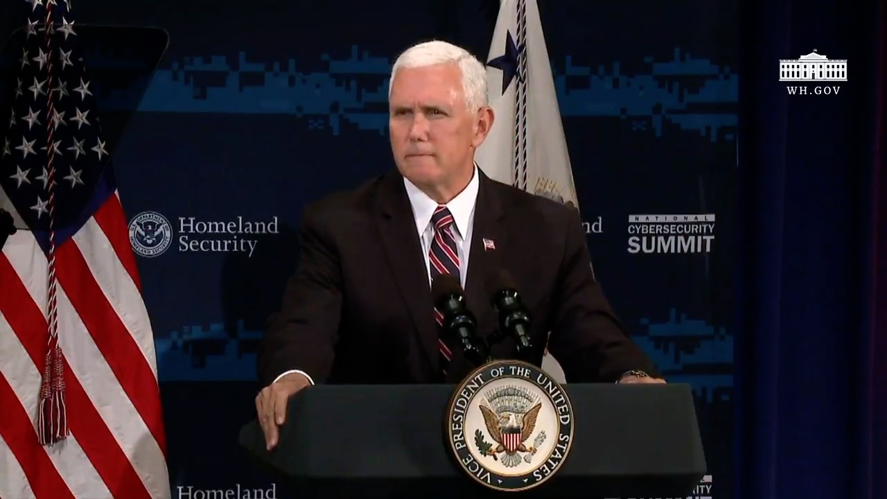 """VP Pence: """"Cyber Attacks Cost Us 109 Billion A Year"""""""