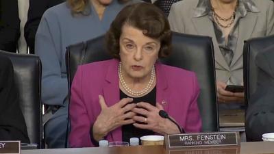 Senator Feinstein Invokes Trump Against Supreme Court Nominee