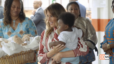 First Lady Melania Trump Is Love In Ghana