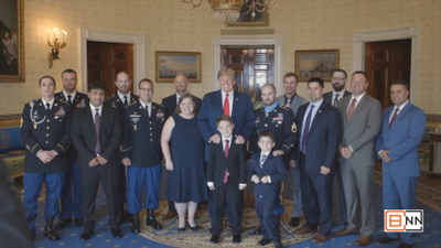 President Trump Presents Medal Of Honor To Veteran Ronald J. Shurer