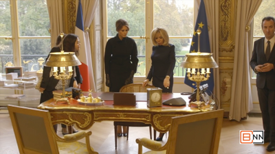 Melania Trump And Brigitte Macron In France
