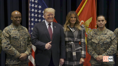 President Donald Trump and First Lady Melania Trump Visit Marine Barracks