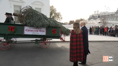 The Trumps Get Their White House Christmas Tree Delivery