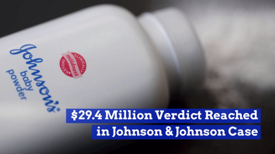 Johnson And Johnson Loses Big Baby Powder Case