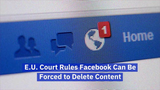 The EU Makes A Facebook Ruling