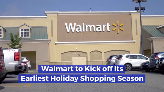Walmart Gets Ready For The Holiday Season