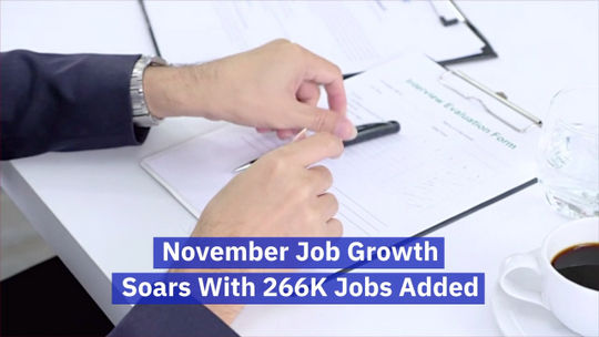 Job Growth Numbers From November
