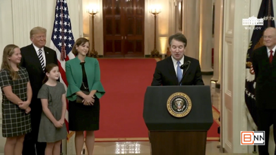 Justice Kavanaugh Gets A Standing Ovation After White House Swearing In Speech