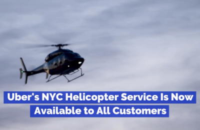The Uber Helicopter Is Available To Everyone
